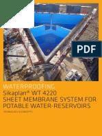 Sikaplan WT 4220 Sheet Membrane Potable Water Reservoirs Eng