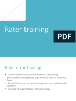 Rater Training