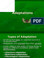 evolutionary adaptations ppt