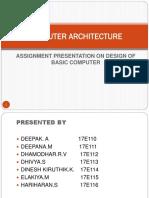 Design of basic computer