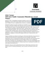 John Canepa Receives Community Foundation Award