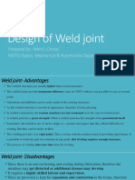 Design of Weld Joint