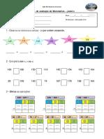 Ficha de Avaliação Matemática- Hélio e Jénifer