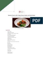 Sambal Prawn With Crispy Prawn Heads and Herb Salad