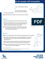 Ankle exercises for Hemophilia