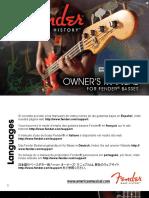 Fender Bass Guitars Manual