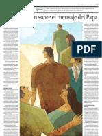 Interpretación sobre el mensaje del Papa