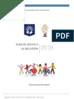 PLAN DE APOYO A LA INCLUSIÓN 2018  SAN JOSÉ FINAL