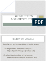 Word Stress and Sentence Stress