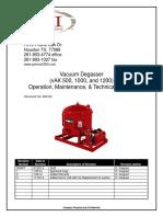 Degasser Manual DM 002 Rev3 VAK