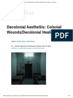 Decolonial aesthesis