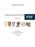 Surface Reconstruction Thesis