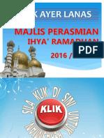 Perasmian Ihya Ramadhan 2016