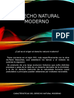DERECHO NATURAL MODERNO