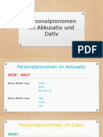 Personalpronomen Im Dativ Und Akkusativ Grammatikubungen 101562