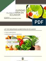 Ley de Seguridad Alimentaria en Ecuador