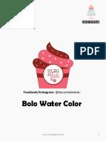 Bolo de aniversário Water Color