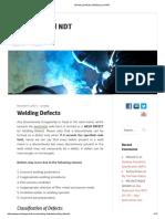 welding ndt defects