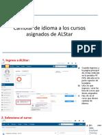 Cambiar de Idioma Los Cursos de ALStar V2
