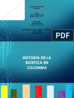 Historia de La Bioetica en Colombia y El Mundo