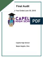 June 2018 Audit of Capella High School in Warrensville Heights