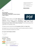 Obioha Visa letter