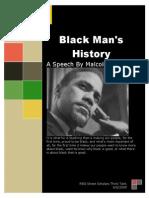 Black Man s History a Speech by Malcolm X