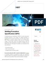 Welding Procedure Specification (WPS) _ Welding and NDT