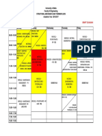 Year 4 Mech Timetable