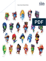 Disney Universe Character Stickers Printable 1011 FDCOM