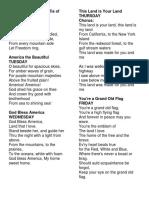 Patriotic Songs.docx