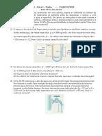 Lista 1 - Fluidos - Física 2