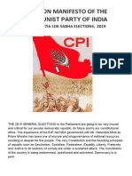 Election Manifesto of the Cpi