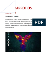 PARROT OS Report 1 and 2.docx