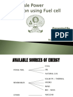 Ppt Large Scale Power Generation Using Fuel Cell