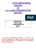 Porter's five force model analysis of PHARMACEUTICAL INDUSTRY.pptx