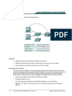 lab_1_2_6 Connecting Router LAN Interfaces (CISCO SYSTEMS)