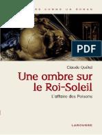 Une Ombre Sur Le Roi Soleil - L - Quetel,Claude