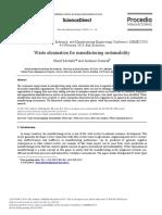 Waste Elimination for Manufacturing Sustainability