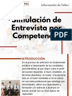 Taller de Simulación de Entrevista por Competencias