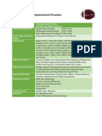 Project Proposal Mangement and Organizational Dynamics