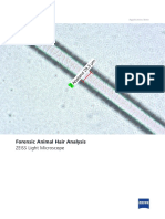 ZEISS Application Note - Forensic Animal Hair Analysis