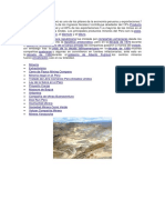 El sector minero en el Perú es uno de los pilares de la economía peruana y exportaciones.docx