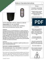 Saunatec Sauna Heater 1108 24 Users Manual 526436
