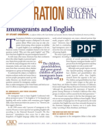 Immigrants and English, Cato Immigration Reform Bulletin No. 7