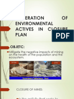 Generation of Environmental Actives in Closure Plan