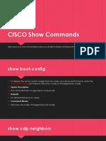 CISCO Show Commands