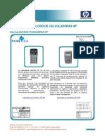 Catalogo Calculadoras Cientficas HP