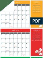 2019 Calendar(Y)