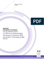 Rapport Beatt sur l'accident mortel de Jonches (janvier 2018)